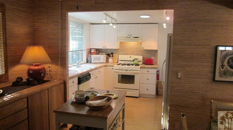 kitchen in remodeled mobile home