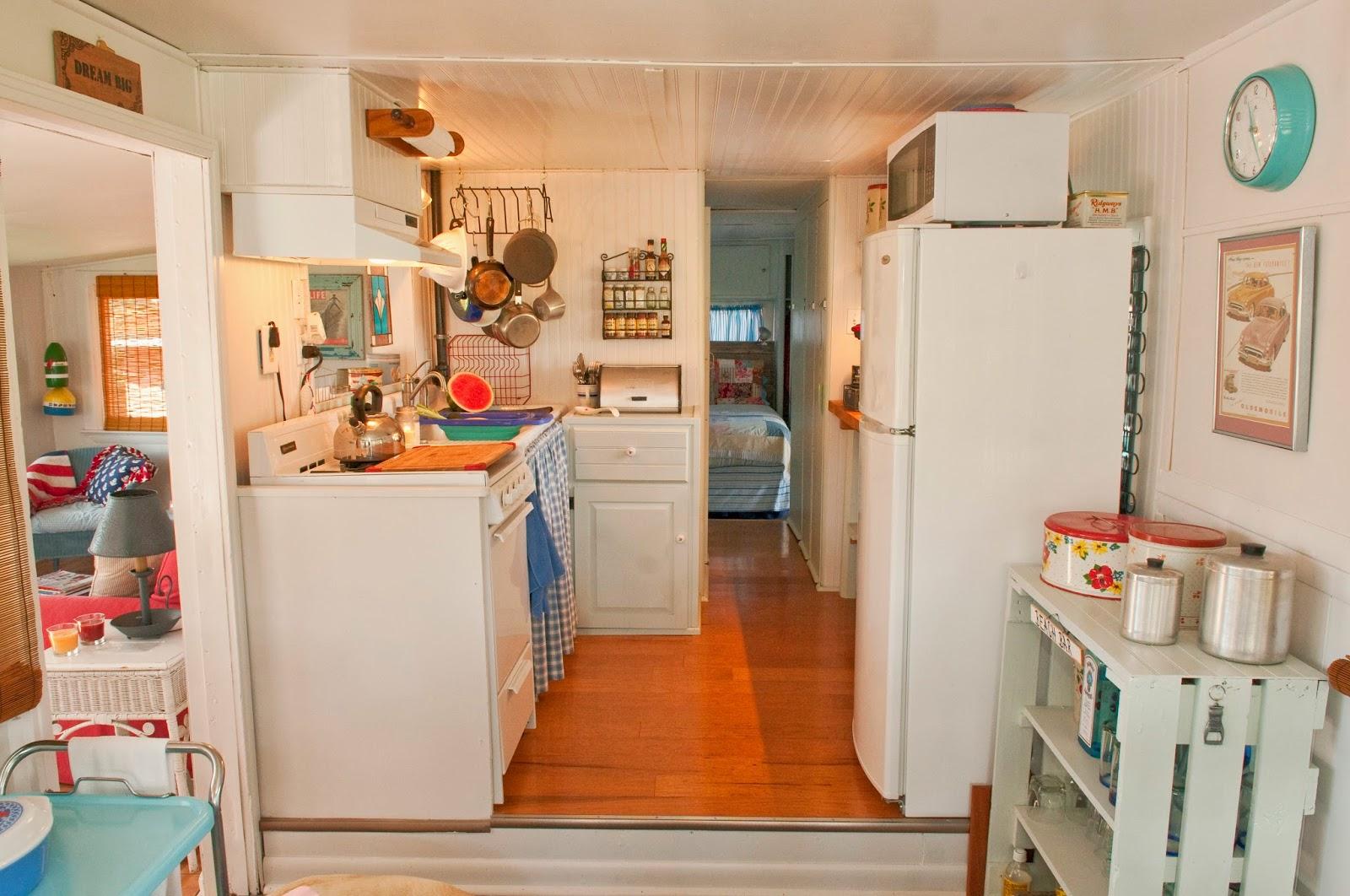 Kitchen In Vintage Mobile Home