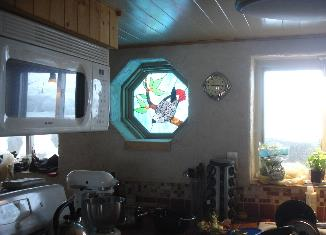 kitchen of mobile home