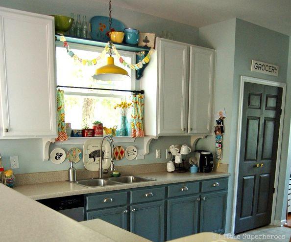 mobile home rental-kitchens - blue