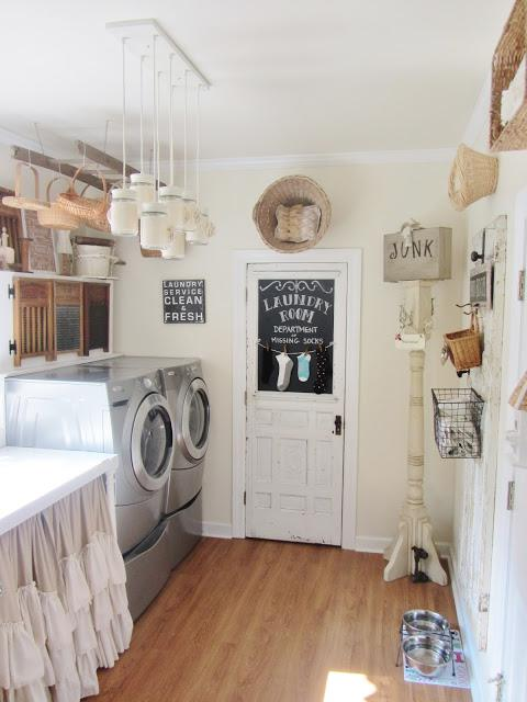 laundry room makeover ideas - country primitive