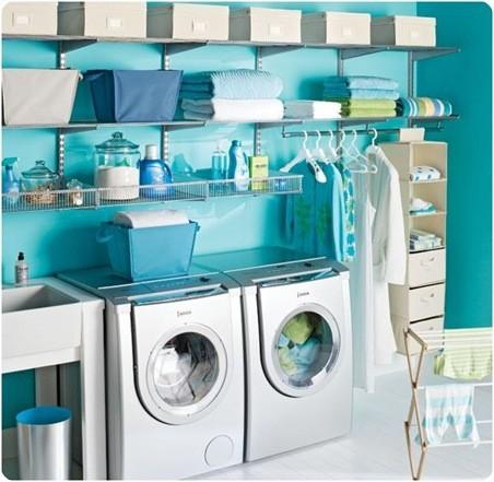Laundry room makeover ideas - fresh and clean