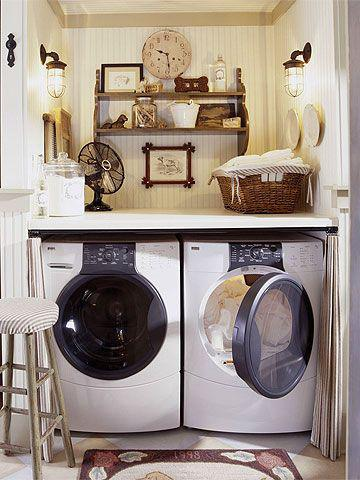 laundry room makeover ideas - victorian vintage