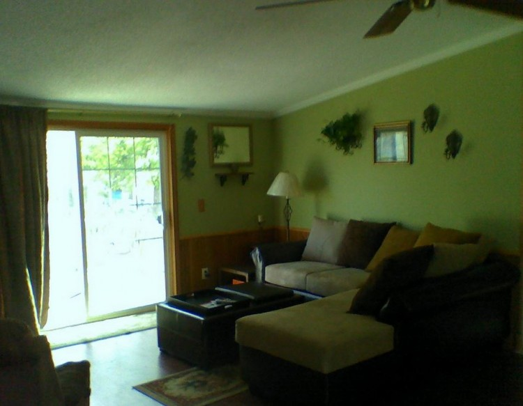 living room after manufactured home remodel
