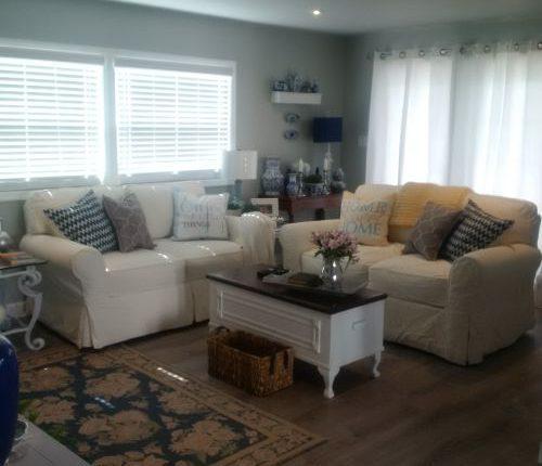 living room decorating styles - modern farmhouse