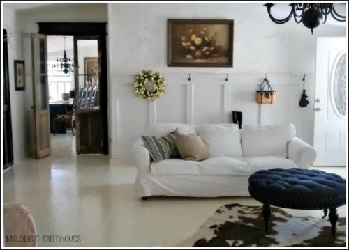 living room decorating styles - modern farmhouse