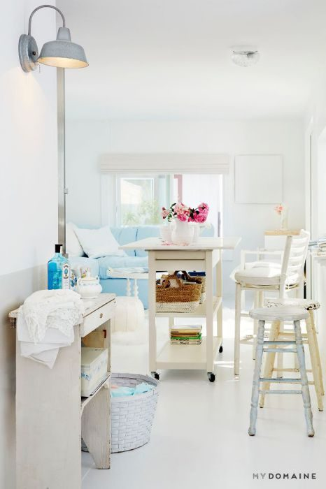 living room decorating styles - shabby chic