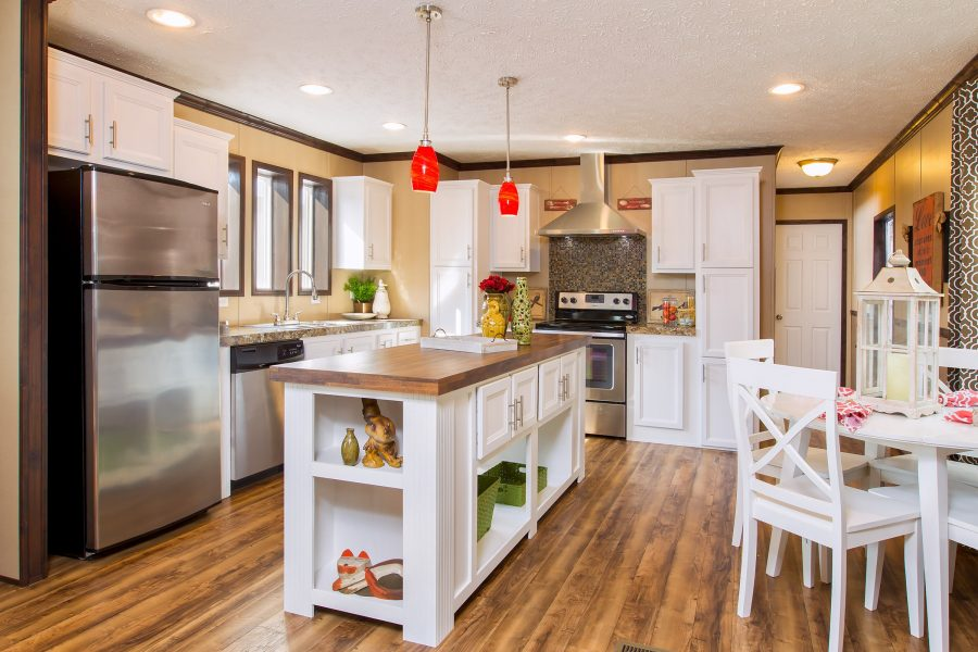 Luxury vinyl tile in manufactured homes - new model from clayton homes
