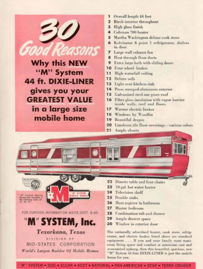 vintage mobile homes-m system mobile home