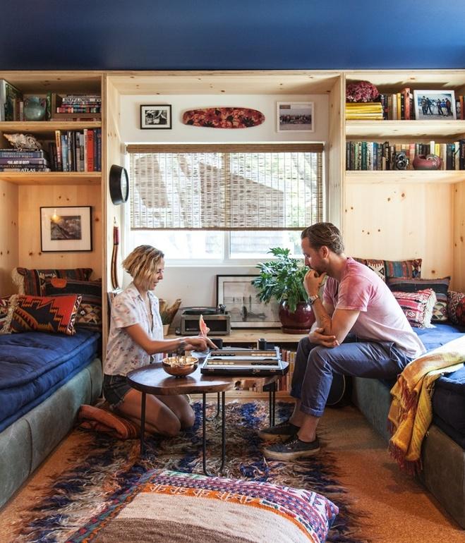 mobile home makeover-malibu mobile home remodel living room
