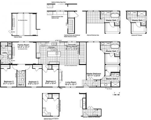 Manufactured home design-floor plan