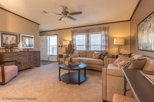 manufactured home design-living room