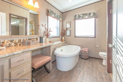 manufactured home design-her master bath