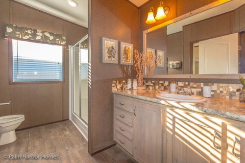 manufactured home design-his master bath
