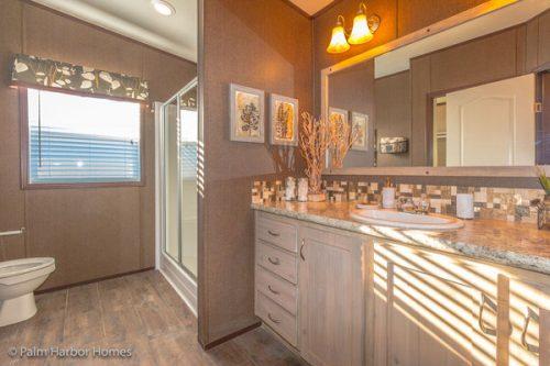 Manufactured home design-his master bath