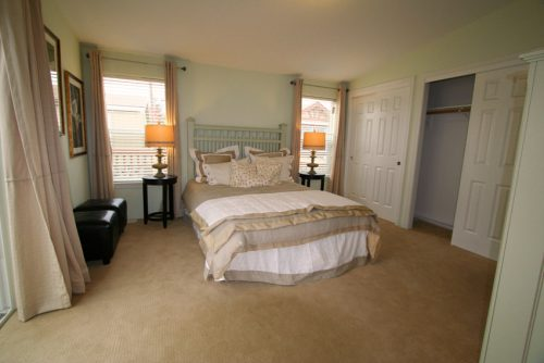 manufactured home design options-master bedroom with sliding doors
