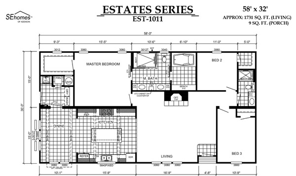 Manufactured home design series-floor plan