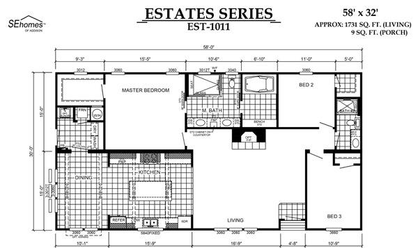 manufactured home design series-floor plan
