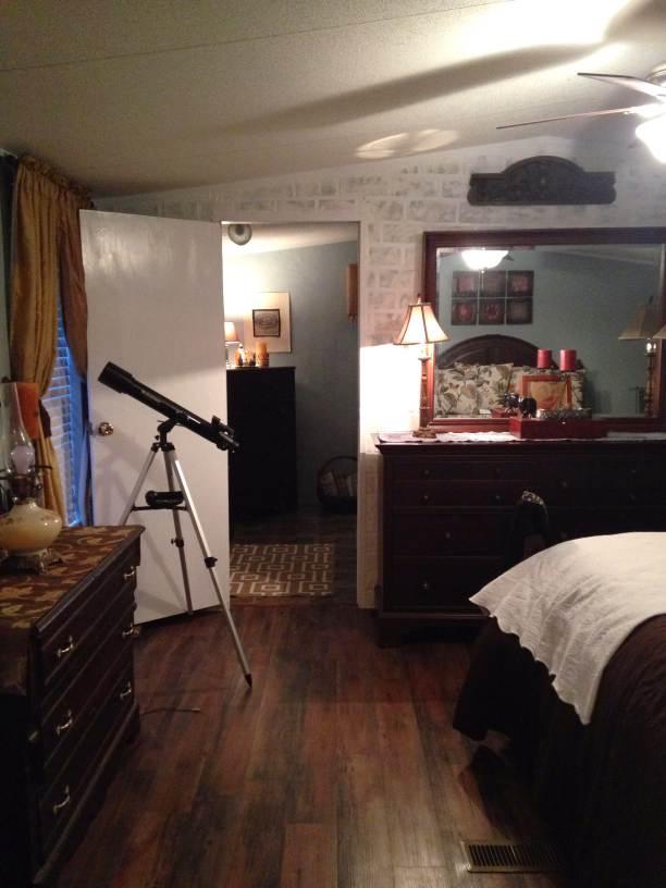 Farmhouse Inspired master bedroom