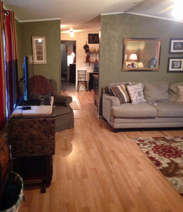 Farmhouse Inspired Manufactured Home Makeover  (living room after 4)