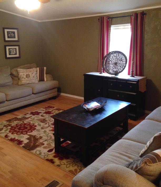 Farmhouse Inspired Manufactured Home Makeover (living room after 2)