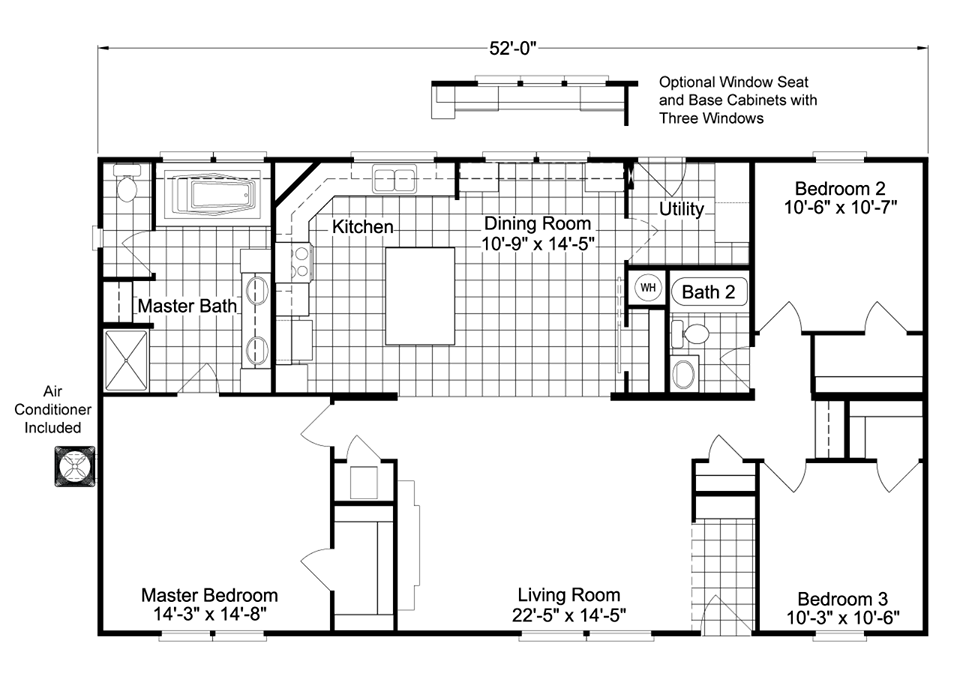 Awesome new manufactured homes floor plans pictures for Deck plans for mobile homes