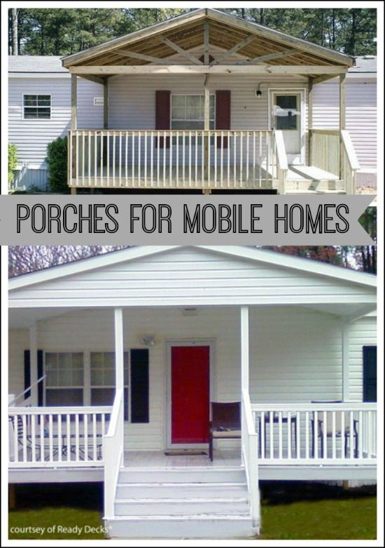 Beautiful manufactured home porch ideas