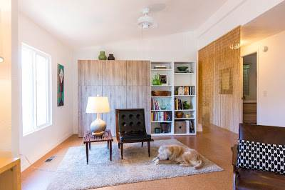 modern manufactured home remodel after - living room after 3