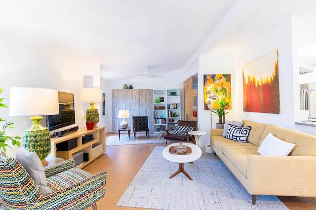 modern manufactured home remodel after - living room 1