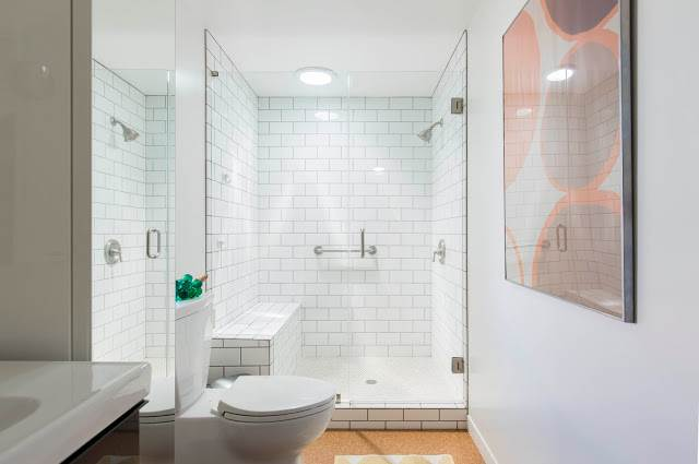 modern manufactured home remodel after - master bathroom after 3