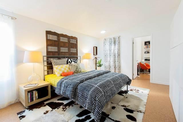 modern manufactured home remodel after - master bedroom after