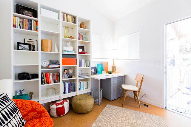 modern manufactured home remodel after - office after