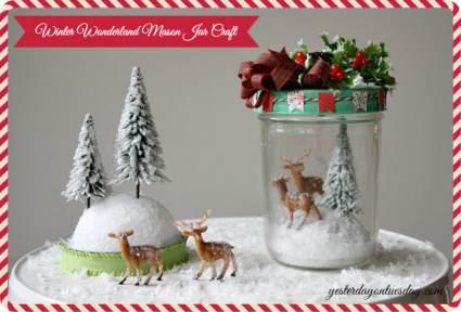 mason Jar Christmas Decor Scene - Christmas in a Mobile Home