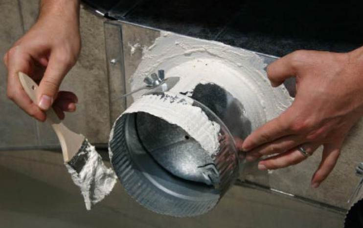mastic seal of duct work