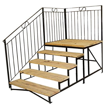 Marvelous metal frame mobile home steps