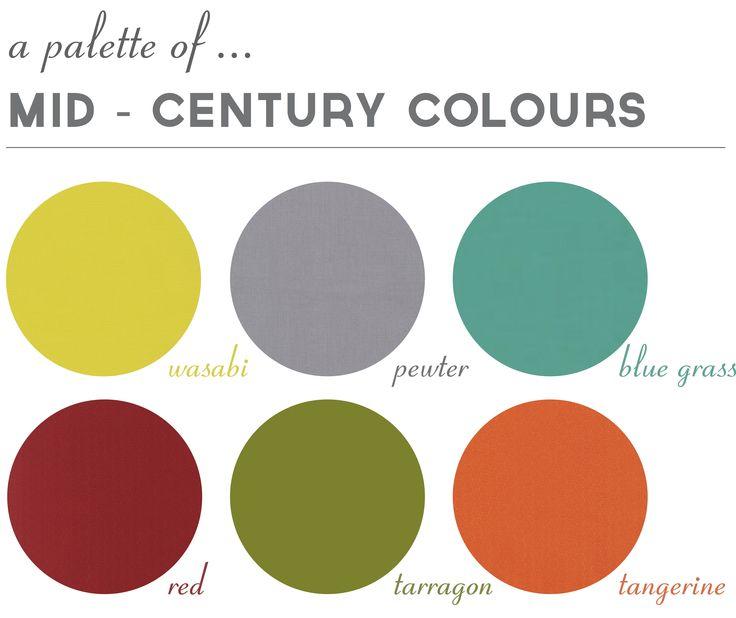 mid-century modern-mid century modern paint palette 2