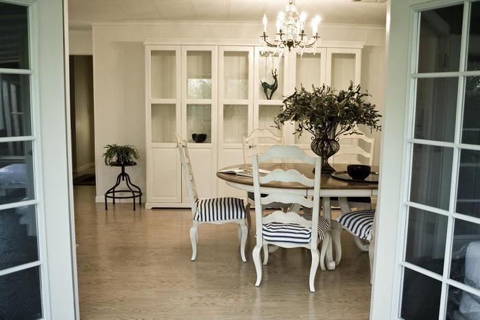 mobile home dining room with painted walls wide-dining room with bookcase