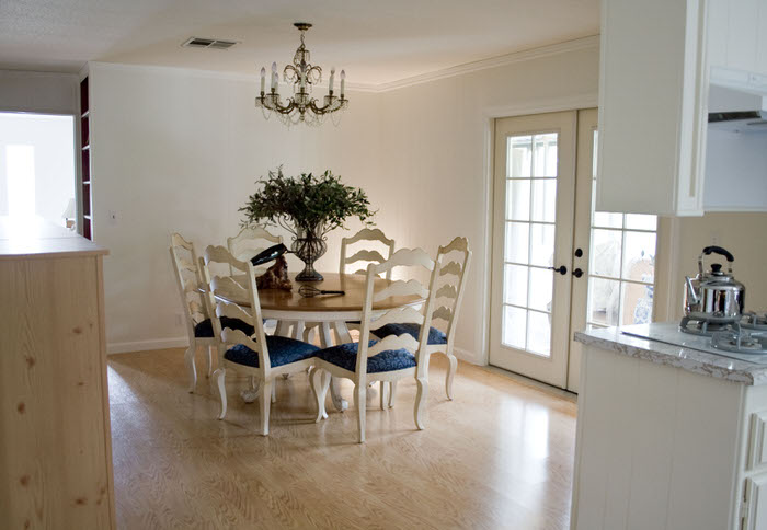 mobile home makeover ideas - bew flooring, new paint, new windows