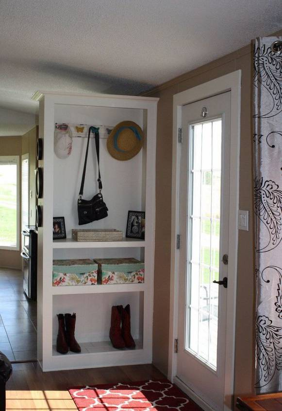 Single Wide Makeover: Modern Traditional Decor - entry way organization