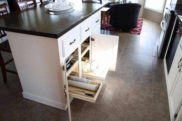 Single Wide Makeover: Modern Traditional Decor - kitchen island update -
