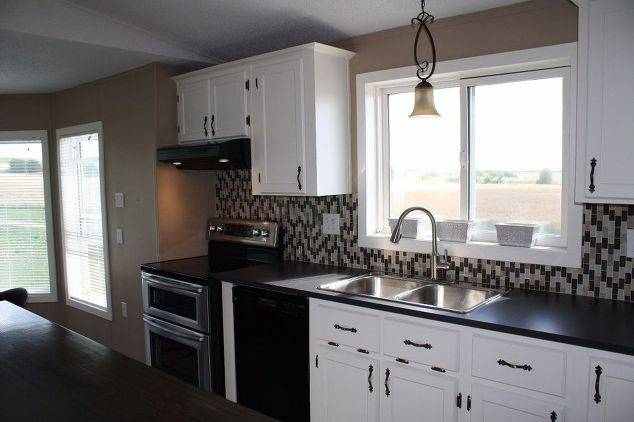 Single Wide Makeover: Modern Traditional Decor - new Kitchen counter rop