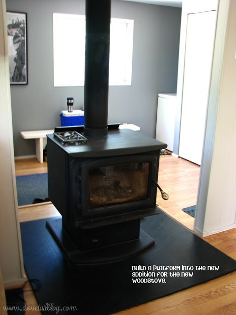 mobile home additions - interior with stove