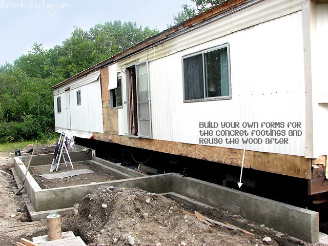mobile home additions - foundation poured