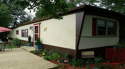 mobile home after painting siding