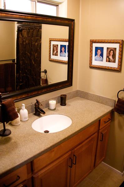 Home bathroom ideas our small bathroom makeover new wood for New home bathroom ideas