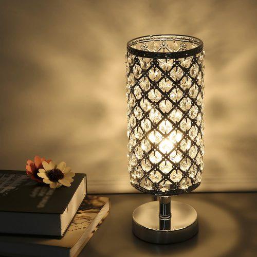 mobile home decor ideas-bedroom lamp
