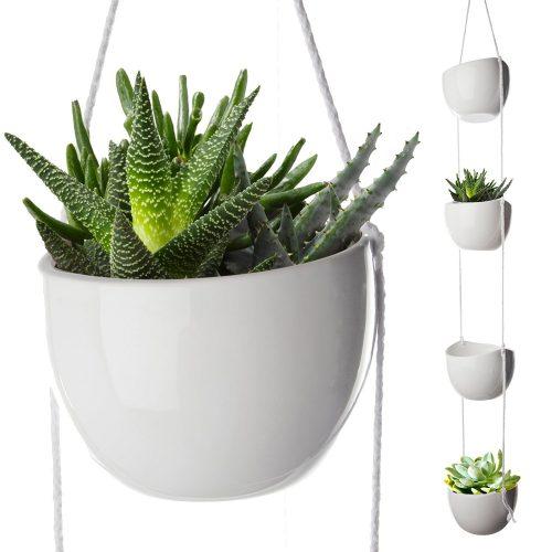 mobile home decor ideas-hanging planter