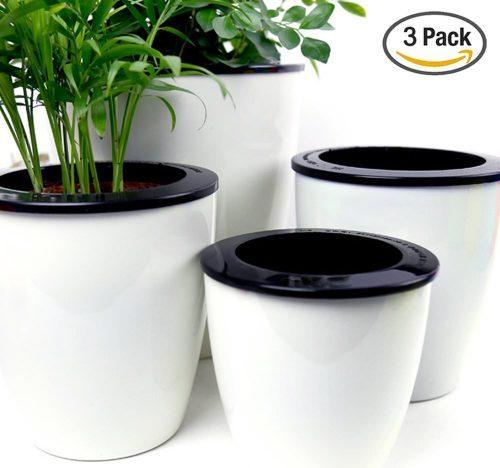 mobile home decor ideas-self water pots