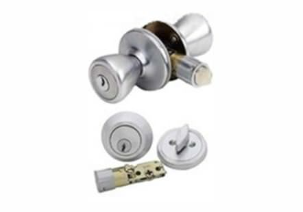 Mobile home door-lock set