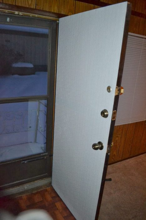 Mobile home door-old mobile home front door updated